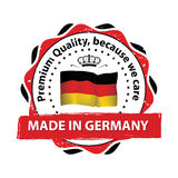 Made in Germany, Premium Quality, because we care Royalty Free Stock Image