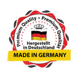 Made in Germany, Premium Quality stamp Royalty Free Stock Images