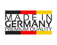 Made in Germany, premium quality sticker with German color. Simple vector illustration Royalty Free Stock Image