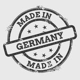 Made in Germany rubber stamp isolated on white. Stock Image