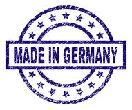 Grunge Textured MADE IN GERMANY Stamp Seal royalty free illustration