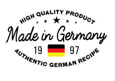 Made in Germany stamp Stock Images
