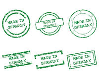 Made in Germany stamps Royalty Free Stock Photography