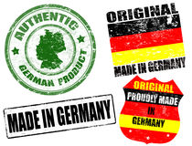 Made in Germany stamps Stock Photo