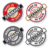 Made In Germany Stickers National Colors Royalty Free Stock Photo