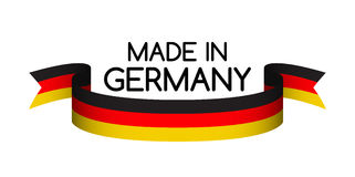 Made in Germany symbol, colored ribbon with the German tricolor Stock Images