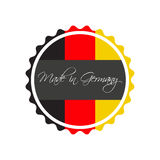 Made in Germany symbol, German sticker Royalty Free Stock Photos