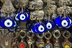Made of glass evil eye beads. Stock Photography