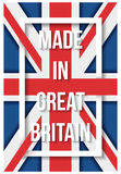 Made in Great Britain flag poster Royalty Free Stock Photo
