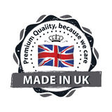 Made in Great Britain, Premium Quality label. Made in Great Britain, Premium Quality, Trusted Brand - grunge label / badge / sticker with the United Kingdom`s Stock Photos