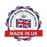 Made in Great Britain, Trusted Brand, Premium Quality Royalty Free Stock Image
