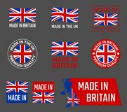 Made in great britain, United Kingdom product emblem royalty free illustration