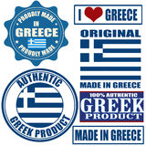Made in Greece stamps and labels Royalty Free Stock Photography