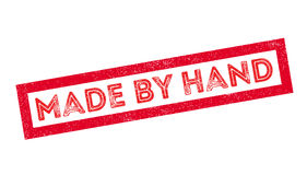 Made by Hand rubber stamp Stock Image