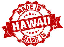 Made in Hawaii seal. Made in Hawaii round seal royalty free illustration