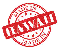 Made in Hawaii stamp Royalty Free Stock Photos