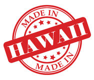 Made in Hawaii stamp Royalty Free Stock Photography