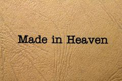 Made in heaven Stock Images