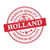 Made in Holland, premium quality  printable banner / sticker. Made in Holland, premium quality grunge printable label. CMYK colors used Royalty Free Stock Photos