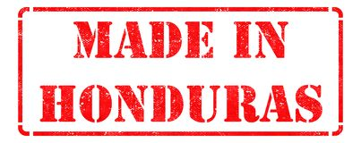 Made in Honduras - Red Rubber Stamp. Stock Photo