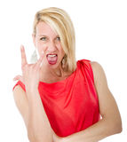 Made horn gesture Royalty Free Stock Photo