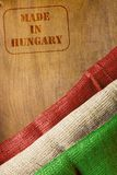 Made in Hungary. Industrial print the stamp - Made in Hungary Royalty Free Stock Photo