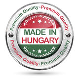 Made in Hungary, Premium Quality - label / icon / badge. With the Hungarian` s map and flag Royalty Free Stock Photo
