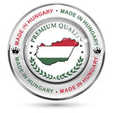 Made in Hungary, Premium Quality - shiny elegant button Royalty Free Stock Photo