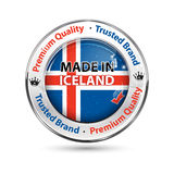 Made in Iceland, Premium Quality, trusted brand - business commerce shiny icon Royalty Free Stock Photo