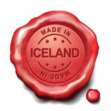 Made in Iceland red wax seal Stock Photography