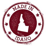 Made in Idaho stamp. Grunge rubber stamp with Made in Idaho text and us state map. Valuable vector illustration royalty free illustration