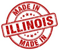 Made in Illinois stamp. Made in Illinois round grunge stamp isolated on white background royalty free illustration