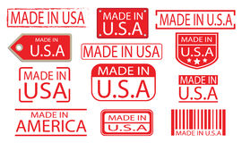 Free Made In America Set 01 Stock Images - 96658384