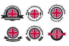 Free Made In U.K Badge Set With United Kingdom Royalty Free Stock Photo - 83659885