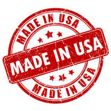 Made In USA Stamp Stock Image