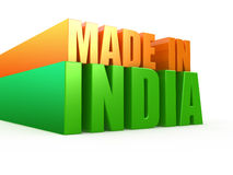 Made in India. 3d illustration Royalty Free Stock Images