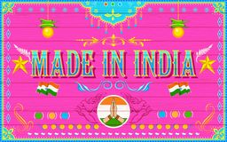 Made in India Background Stock Photo