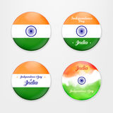 Made in India. Collection of Badges. illustration of set of banner and badges for colorful India. Indian Independence Royalty Free Stock Photography