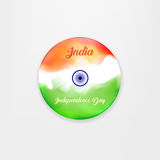 Made in India. illustration of banner and badge for colorful India. Indian Independence Day concept background with Royalty Free Stock Photography