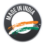 Made in India label badge logo certified. Royalty Free Stock Photo
