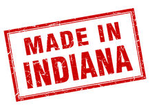 Made in Indiana stamp Royalty Free Stock Image
