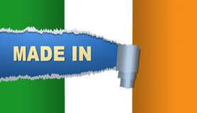 Made in Ireland, flag, illustration. Made in Ireland, flag,best illustration Royalty Free Stock Photography