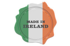 Made in Ireland seal, stamp. 3D rendering Royalty Free Stock Photos