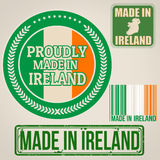 Made in Ireland stamp and labels Royalty Free Stock Photography