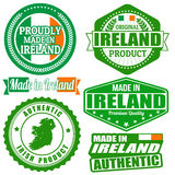 Made in Ireland stamp and labels Royalty Free Stock Images