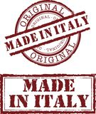 Made in italy. Vector made in italy stamp with red ink Stock Image