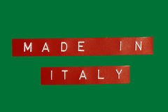 Made In Italy Royalty Free Stock Photography