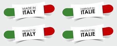 Made in Italy Badges Royalty Free Stock Photo