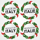 Made in Italy Badges Stock Photo