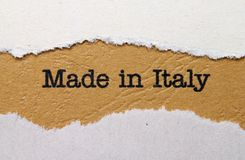 Made in Italy Stock Images